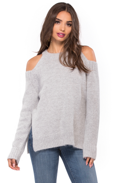 Cold Shoulder Sweater - Sugarillashop.com