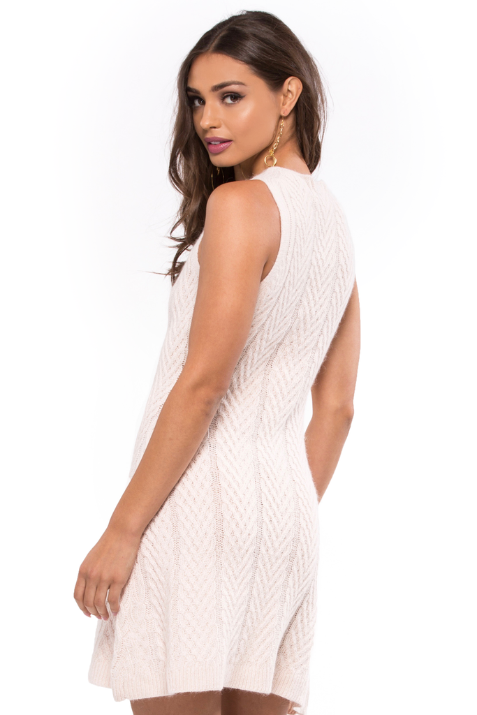 Turtleneck Sleeveless Knit Dress