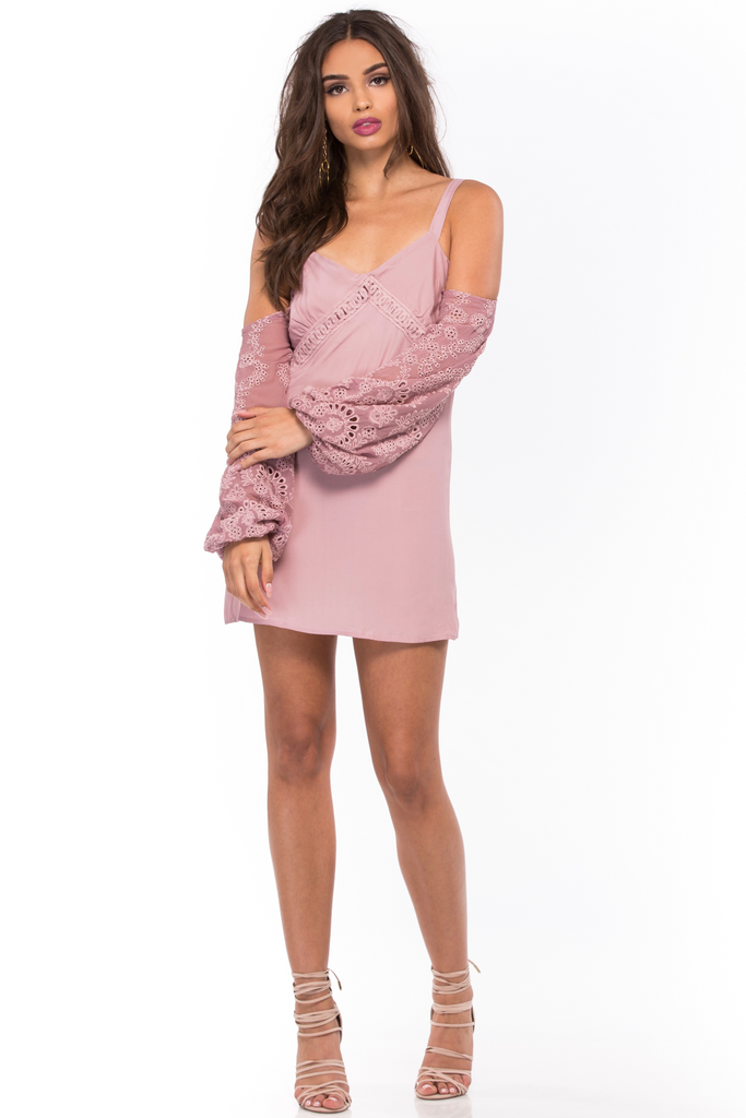 Eyelet Alegre Mini Dress - Sugarillashop.com