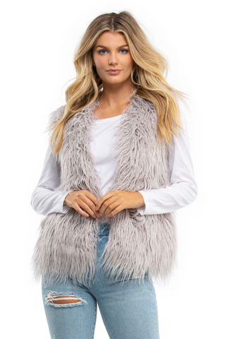 Endless Shaggy Faux Fur Vest