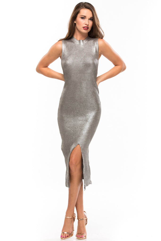 Shine Bright Foiled Midi Dress