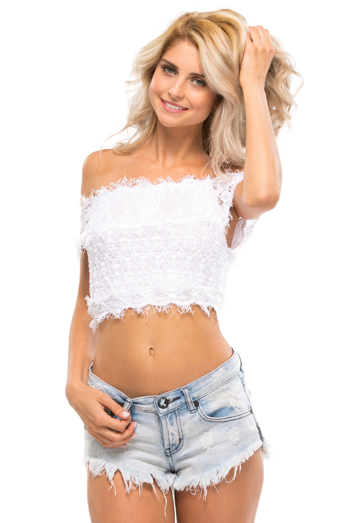 Florence Lace Off The Shoulder Top