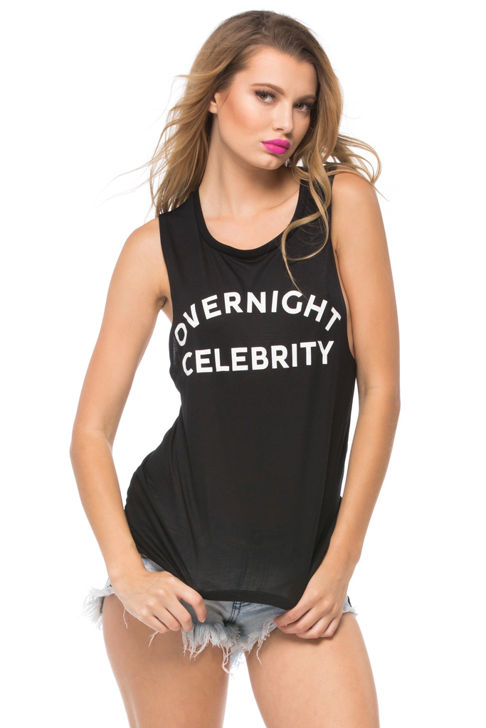 Overnight Celebrity Muscle Tank