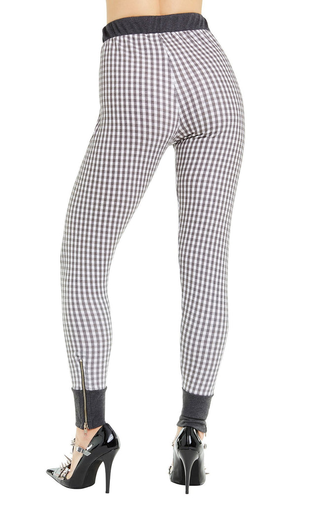 Black Gingham Gwen Jogger - Sugarillashop.com