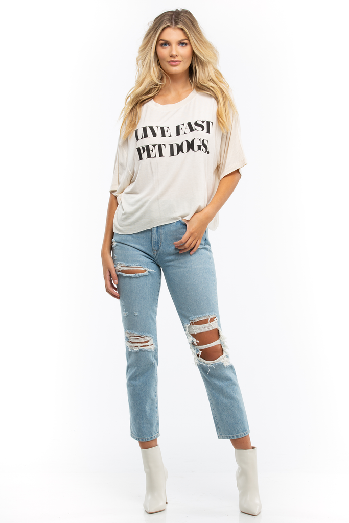 Live Fast, Pet Dogs Cropped T