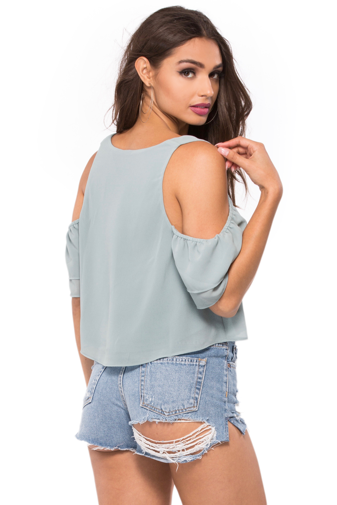 Sadie Ruffle Crop Top