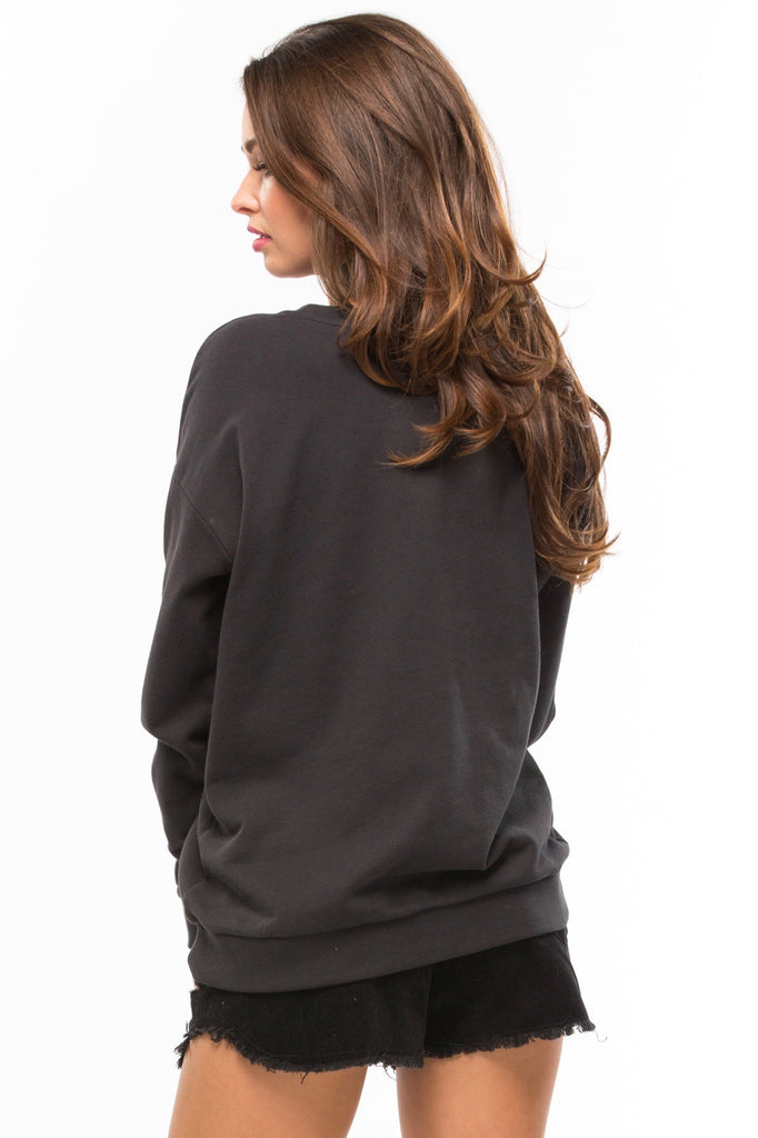 Fashion Mafia Alexa Boyfriend Sweatshirt - Sugarillashop.com