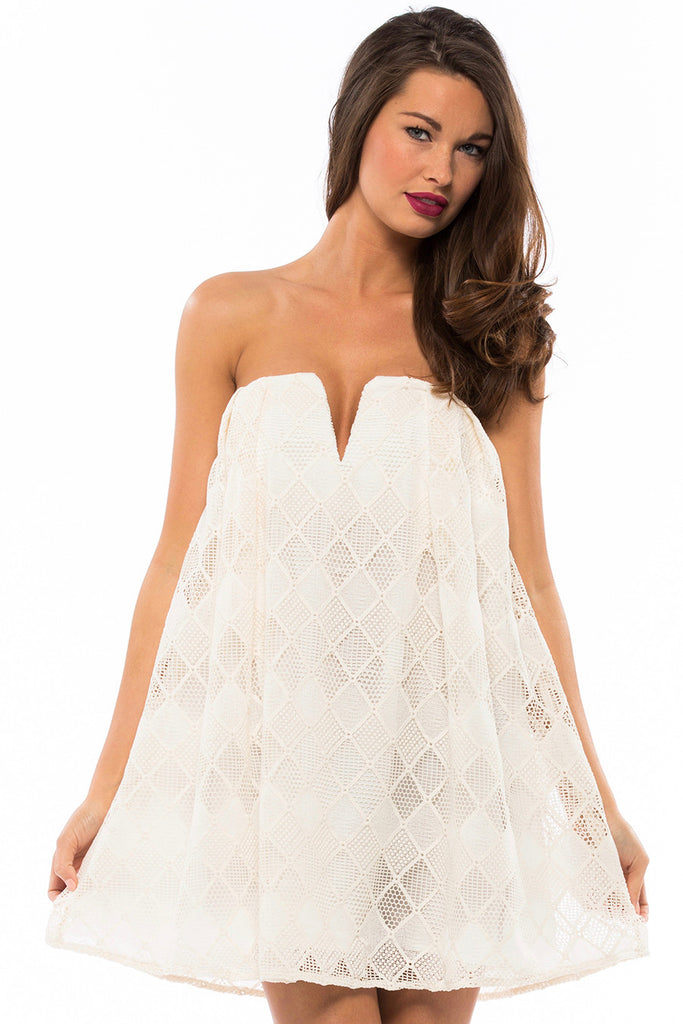 Empire Strapless Dress - Sugarillashop.com
