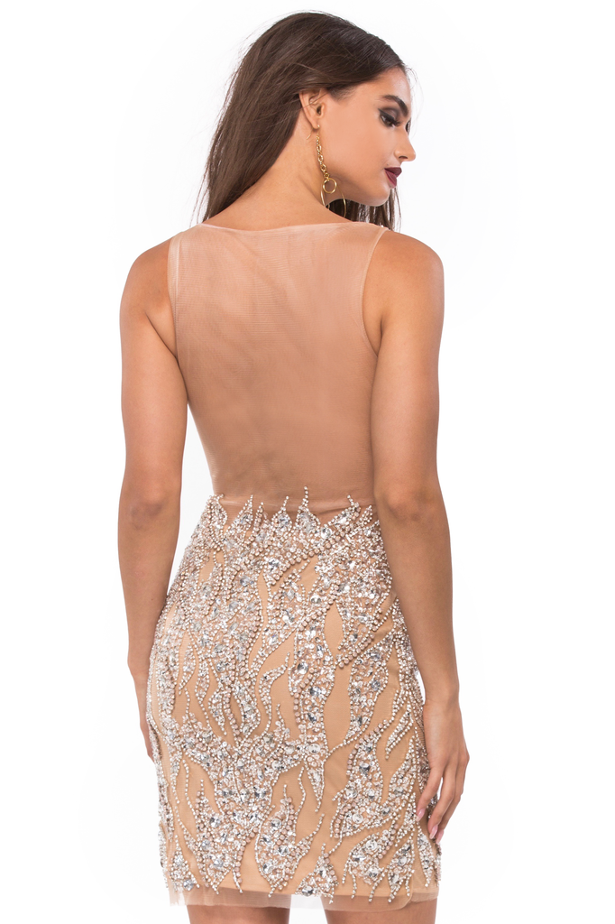 Blush Crystal Dress - Sugarillashop.com