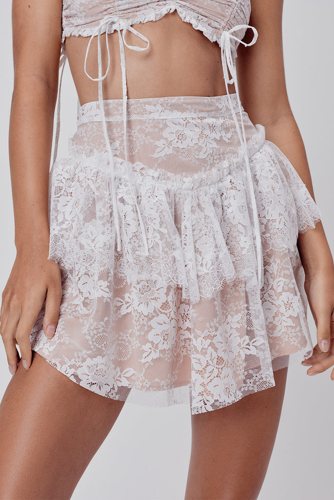 Verbena Lace Mini Skirt