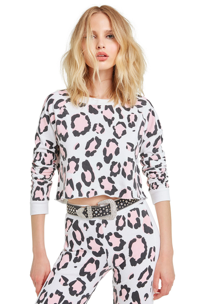 Blush Leopard Beach House Crop - Sugarillashop.com