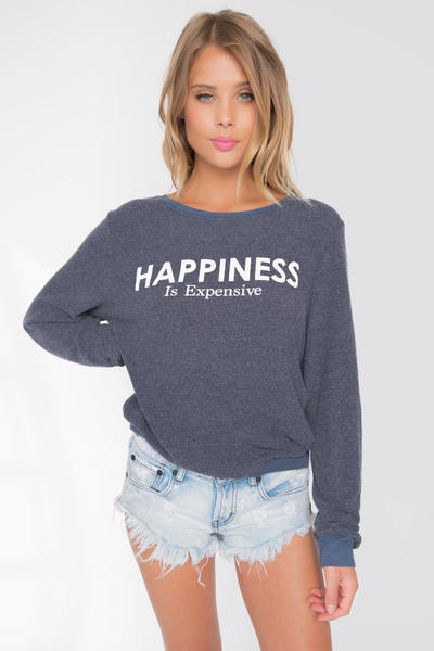 Happiness Is Expensive Baggy Beach Jumper