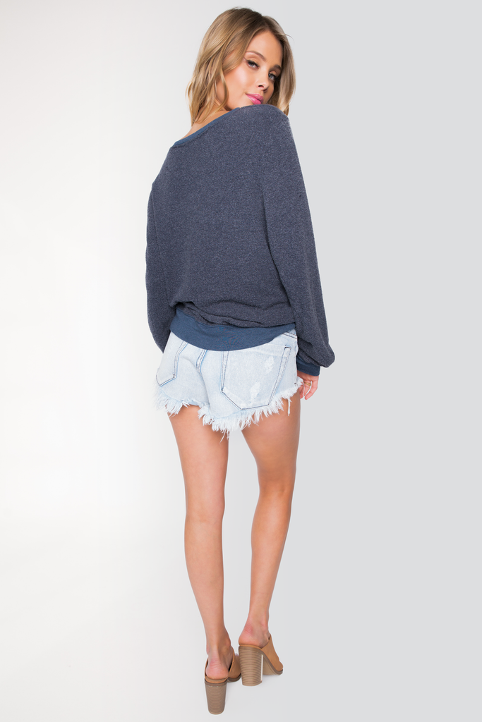 Hollywood Grocery List Baggy Beach Jumper