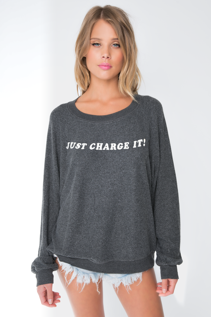 Just Charge It Baggy Beach Jumper