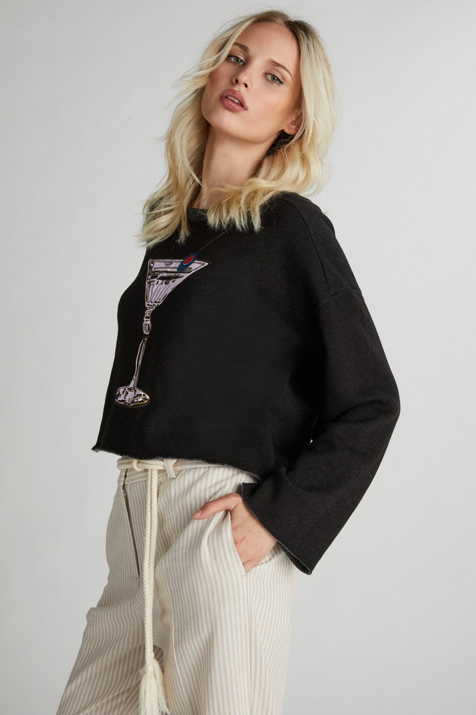 Martini, Please Flora Sweatshirt