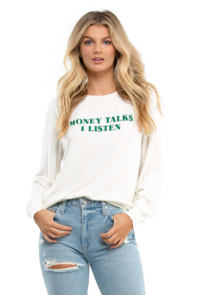 Money Talks Baggy Beach Jumper