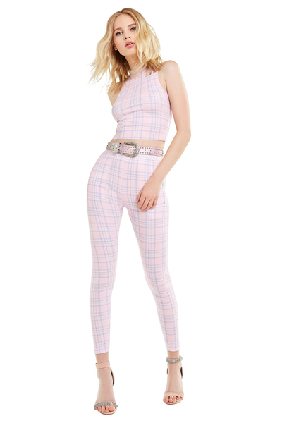 Pastel Plaid Demi Legging