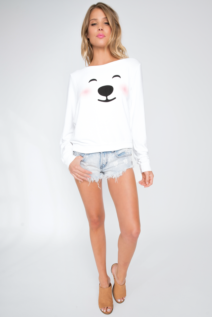 Polar Bear Emoji Baggy Beach Jumper