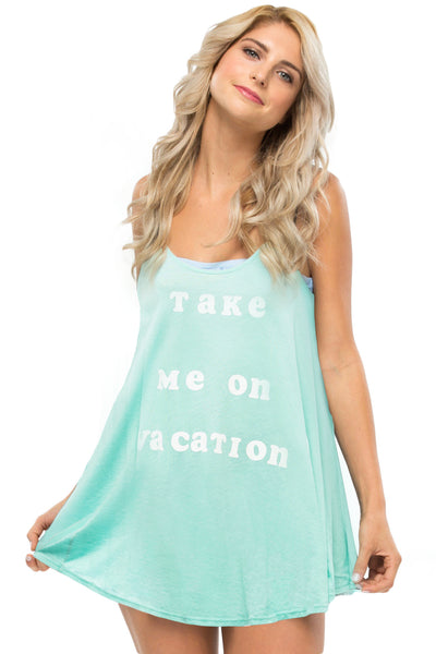 Take Me On Vacation Tank