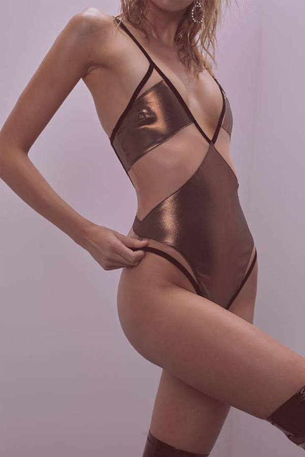 Blackjack Metallic Bodysuit - Sugarillashop.com