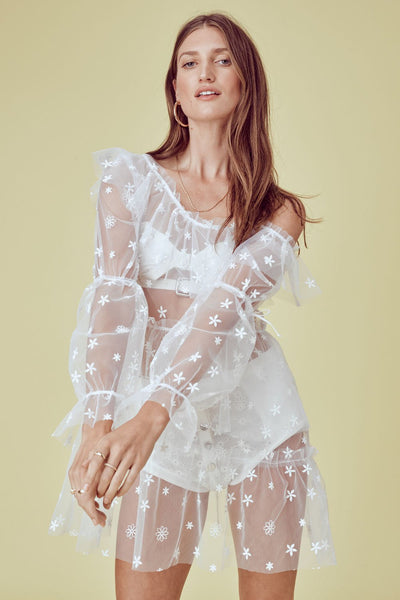 Claudia Off Shoulder Tulle Dress