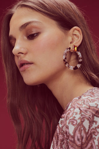 Nathalie Hoop Earrings