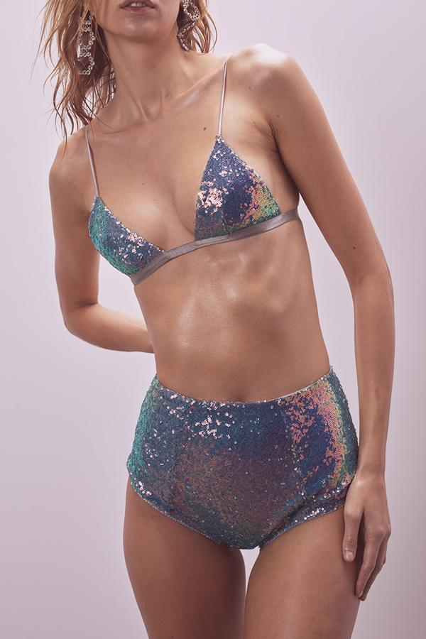 Cosmo Sequin Triangle Bra - Sugarillashop.com