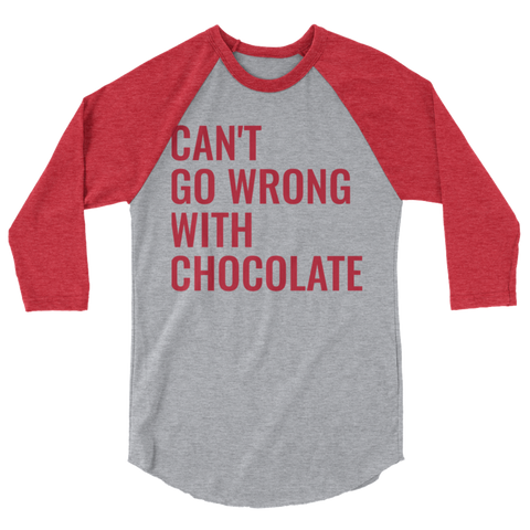 Can't Go Wrong With Chocolate Baseball T-shirt
