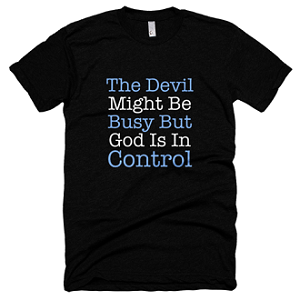 God Is In Control Black T-shirt