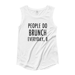 People Do Brunch Cap Sleeve T-shirt