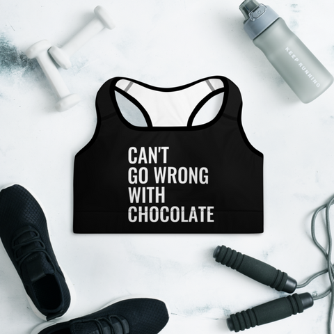 Can't Go Wrong With Chocolate Sports Bra