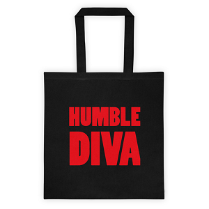 Humble Diva Black Tote Bag