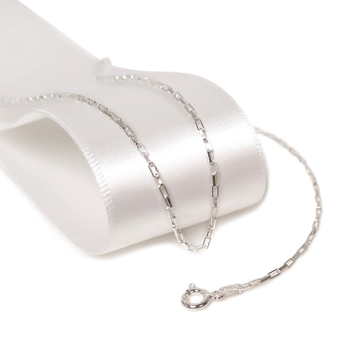 Italian Solid Sterling Silver Long Box Chain