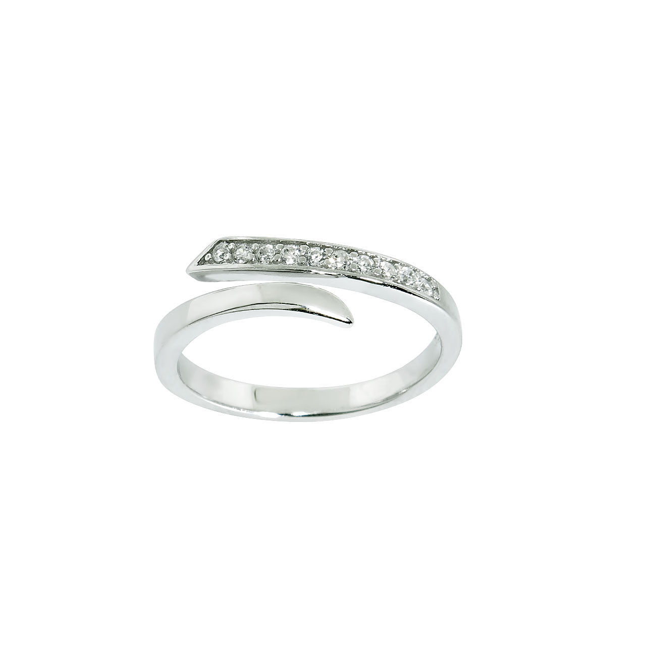 Solid Sterling Silver Open Ended Midi Ring