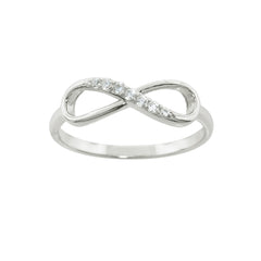Sterling Silver Accented Infinity Ring