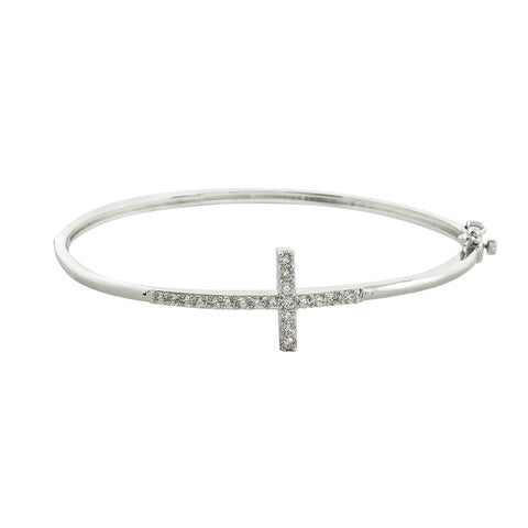 Cross Hinged Bangle