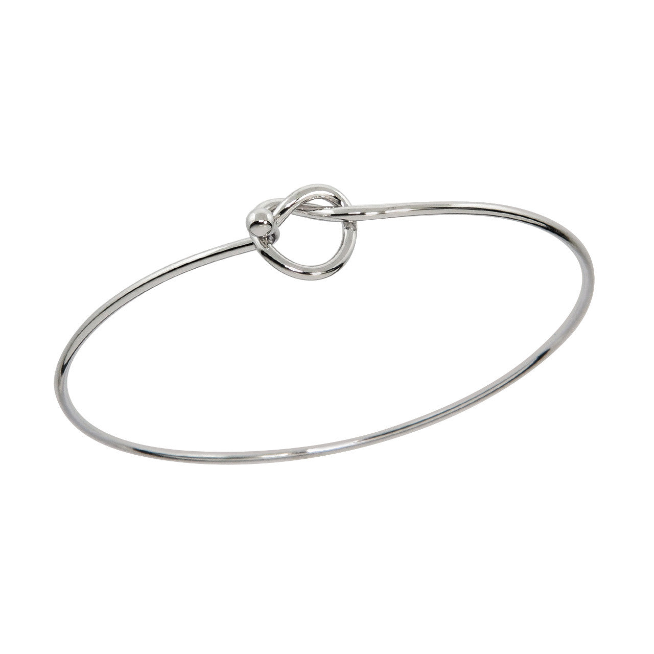 Hinged open Love Knot Bangle