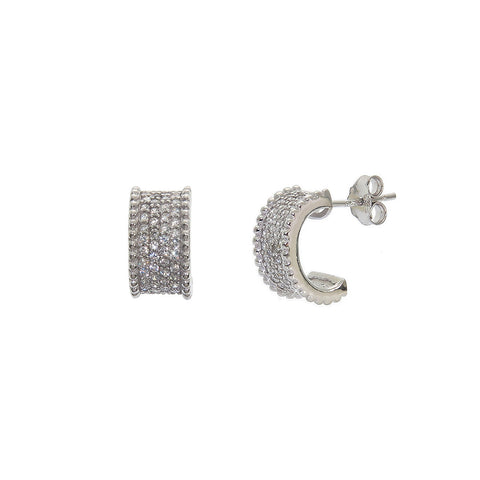 Sterling Silver J Cuff Earrings