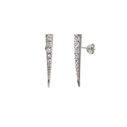 Solid Sterling Silver Fang Stud Earrings