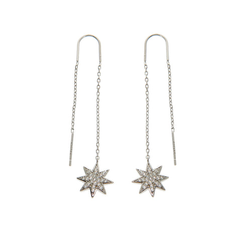 Solid Sterling Silver Starburst Threader