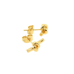 14k Gold plated Love Knot Stud Earrings