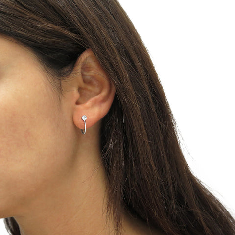 Stud Huggie Hoop Earrings