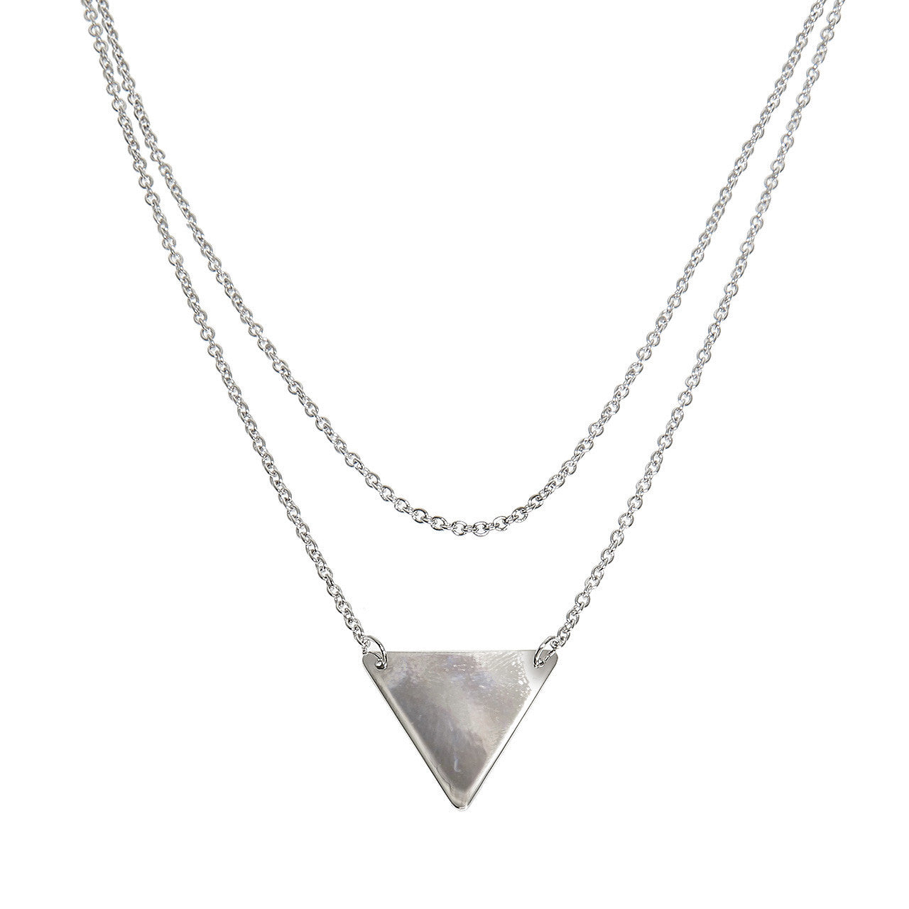 Layered Triangle Necklace