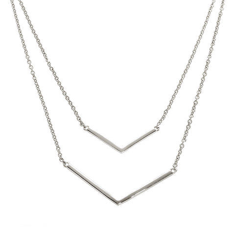 Layered Double Chevron Necklace