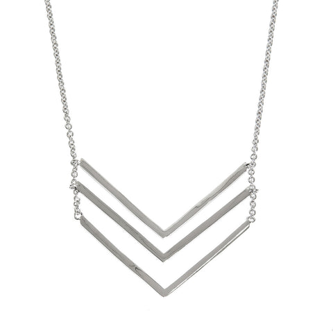 Triple Chevron Layered Necklace