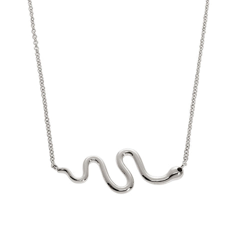 Snake w/ Gem Eye Necklace