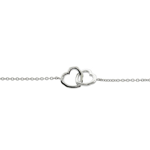 Interlocking Heart Choker/Collar Necklace
