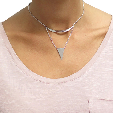 Abstract Choker/Collar Necklace