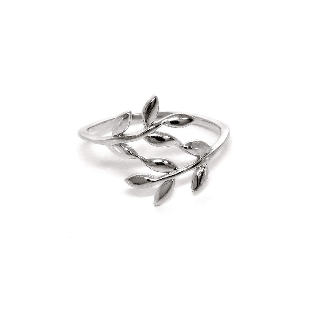 Solid Sterling Silver Wreath Midi Ring
