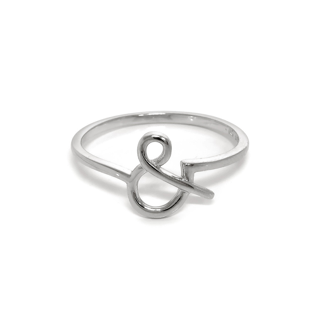 "Sterling Silver ""&"" Ring"